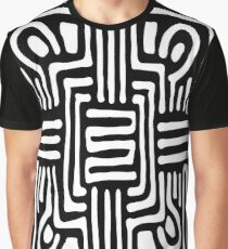 Black & White Mandala Pattern Graphic T-Shirt