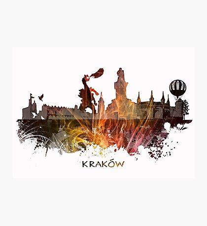 Kraków skyline city #krakow #cracow Photographic Print