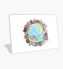 Happy Dog Planet - Choose your Furrsonality Laptop Skin