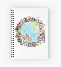 Happy Dog Planet - Choose your Furrsonality Spiral Notebook