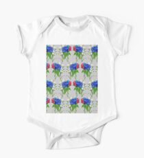 Gentian, Edelweiss, Alpenrose Short Sleeve Baby One-Piece