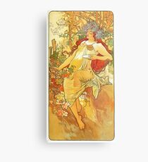 HD. Spring, by Alphonse Mucha (1896) High Definition Metal Print