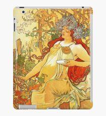 HD. Spring, by Alphonse Mucha (1896) High Definition iPad Case/Skin