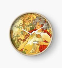 HD. Spring, by Alphonse Mucha (1896) High Definition Clock