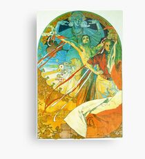 HD. 8th Sokol Festival , by Alphonse Mucha  (1912) High Definition Metal Print