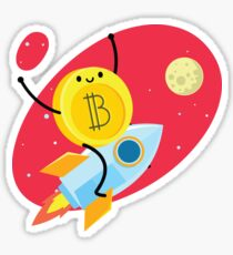 Bitcoin to the moon Sticker