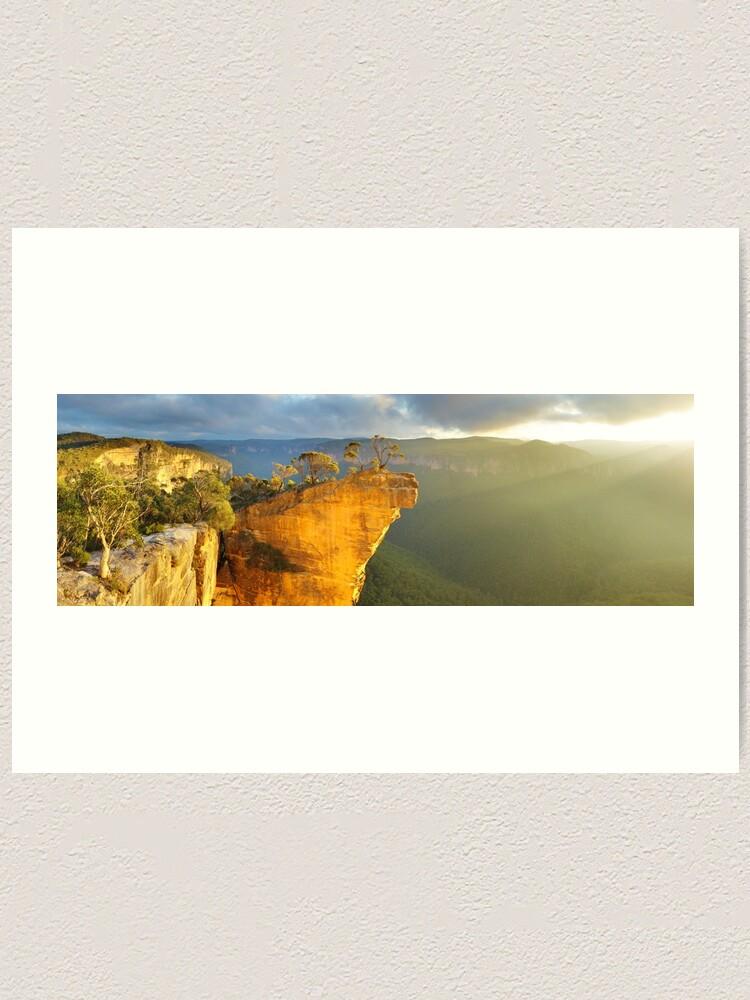 Alternate view of Hanging Rock, Blue Mountains, Australia Art Print