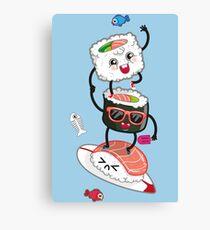 Surfin' sushi Canvas Print