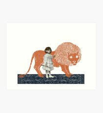 Pet Lion Art Print