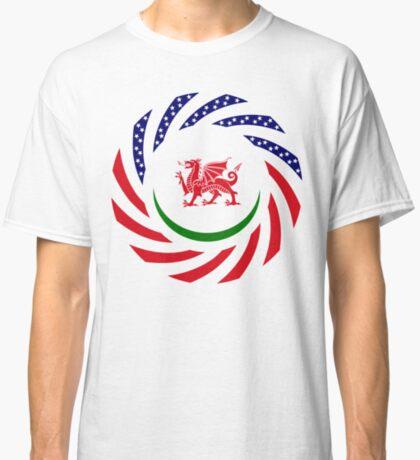 Welsh American Multinational Patriot Flag Series Classic T-Shirt
