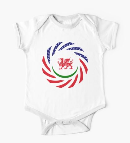 Welsh American Multinational Patriot Flag Series Kids Clothes