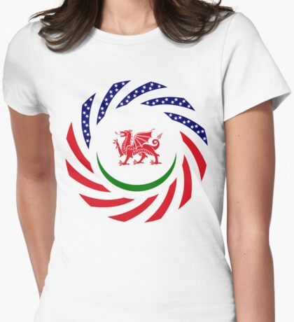 Welsh American Multinational Patriot Flag Series T-Shirt