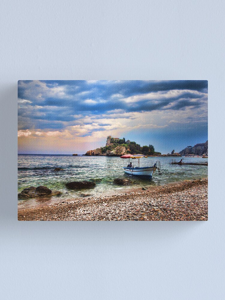 Alternate view of Isola Bella, Taormina, Sicily Canvas Print