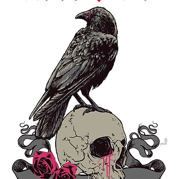 Edgar Allan Poe - Nevermore by inkwear
