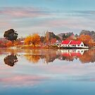 Lake Daylesford Boat House, Victoria, Australia by Michael Boniwell