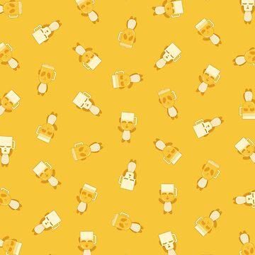 Blonde Panda Beer pattern (yellow) by animinimal