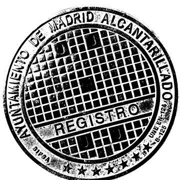 Manhole Madrid, Spain by Graf