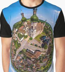 Majestic little planet view of little village Ebersmunster  Graphic T-Shirt