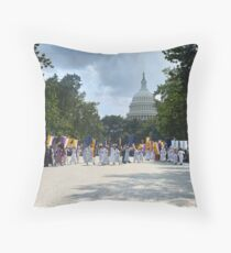 National Woman's Party marching in Washington D.C. May 21, 1922. Throw Pillow