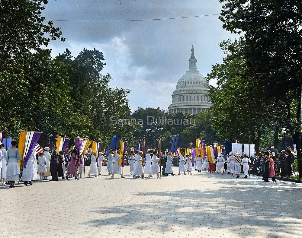 National Woman's Party marching in Washington D.C. May 21, 1922. by Sanna Dullaway