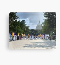 National Woman's Party marching in Washington D.C. May 21, 1922. Metal Print