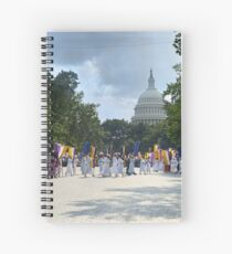 National Woman's Party marching in Washington D.C. May 21, 1922. Spiral Notebook