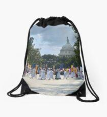 National Woman's Party marching in Washington D.C. May 21, 1922. Drawstring Bag