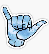 Blue Tie Dye Shaka Sticker