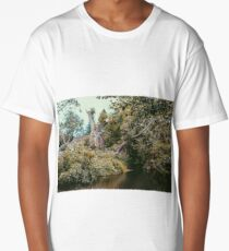 cottage over the water Long T-Shirt