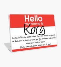 Hello My Name Is Korg Laptop Skin