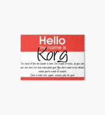 Hello My Name Is Korg Art Board Print