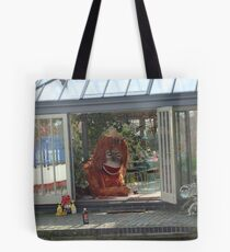 Lion in the house Tote Bag