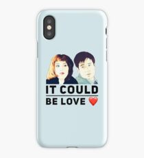 X Files Mulder and Scully It could be love iPhone Case