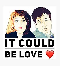 X Files Mulder and Scully It could be love Photographic Print