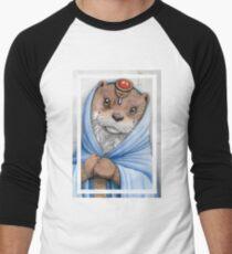 A cute otter girl Men's Baseball ¾ T-Shirt