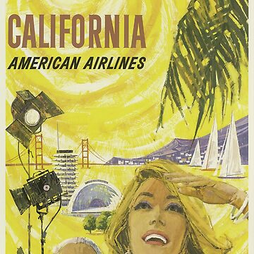 California Travel Poster by boscotjones
