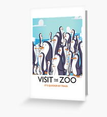 Visit The Zoo Penguins Greeting Card