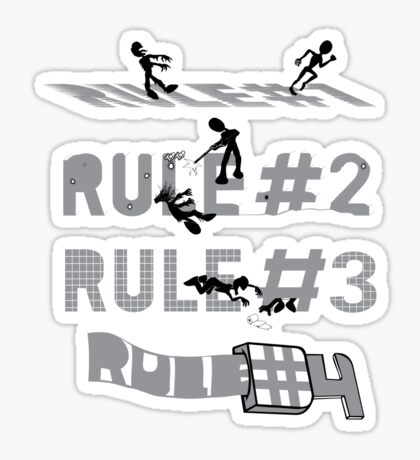 4 Simple rules Sticker