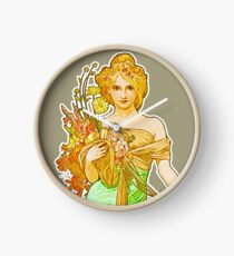 HD. Eclat du jour , by Alphonse Mucha (1899 ) High Definition Clock
