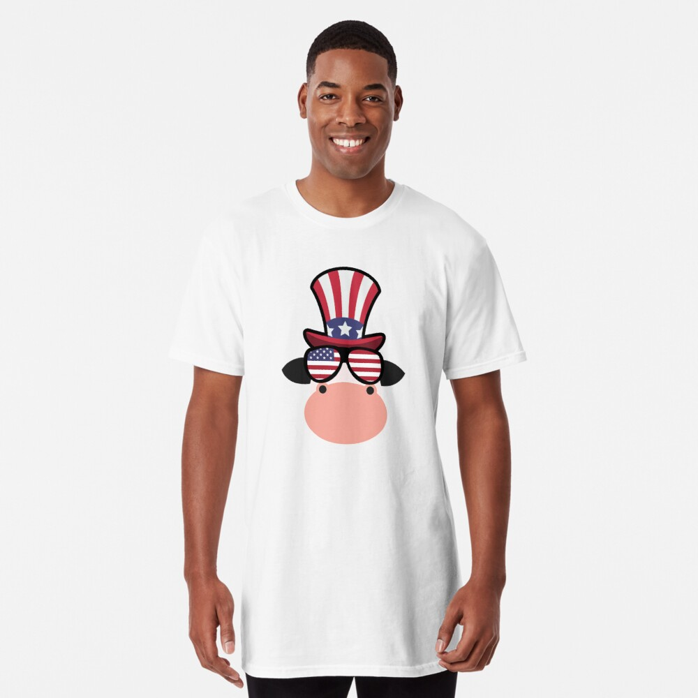 Cow Happy 4th Of July Camiseta larga