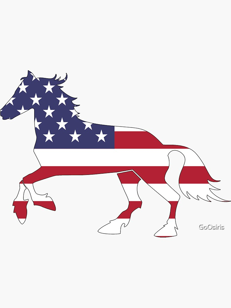 American Flag Horse Happy 4th of July de GoOsiris