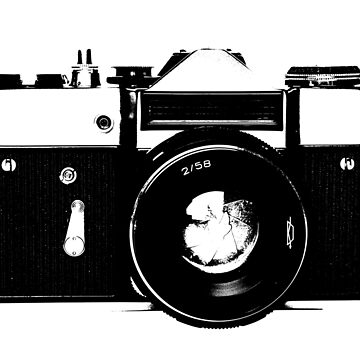 Old retro vintage film slr photo camera by UDDesign