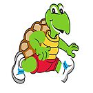 Savvy Turtle Mascot Life's a Marathon Not a Race by SavvyTurtle