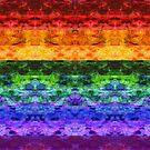 Rainbow Stripe Quilt by TigerTorreArt