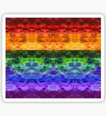Rainbow Stripe Quilt Sticker