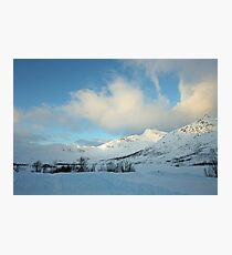 Blue sky and snow Photographic Print