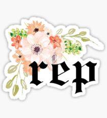 rep flowers  Sticker