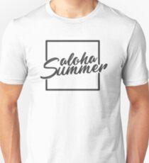 f9675136 aloha summer funny vacation Hawaii quotes white mens womens tee shirt t-shirt  Slim Fit