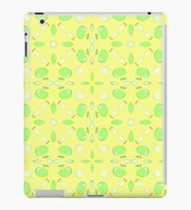 green texture yellow seamless colorful repeat pattern iPad Case/Skin