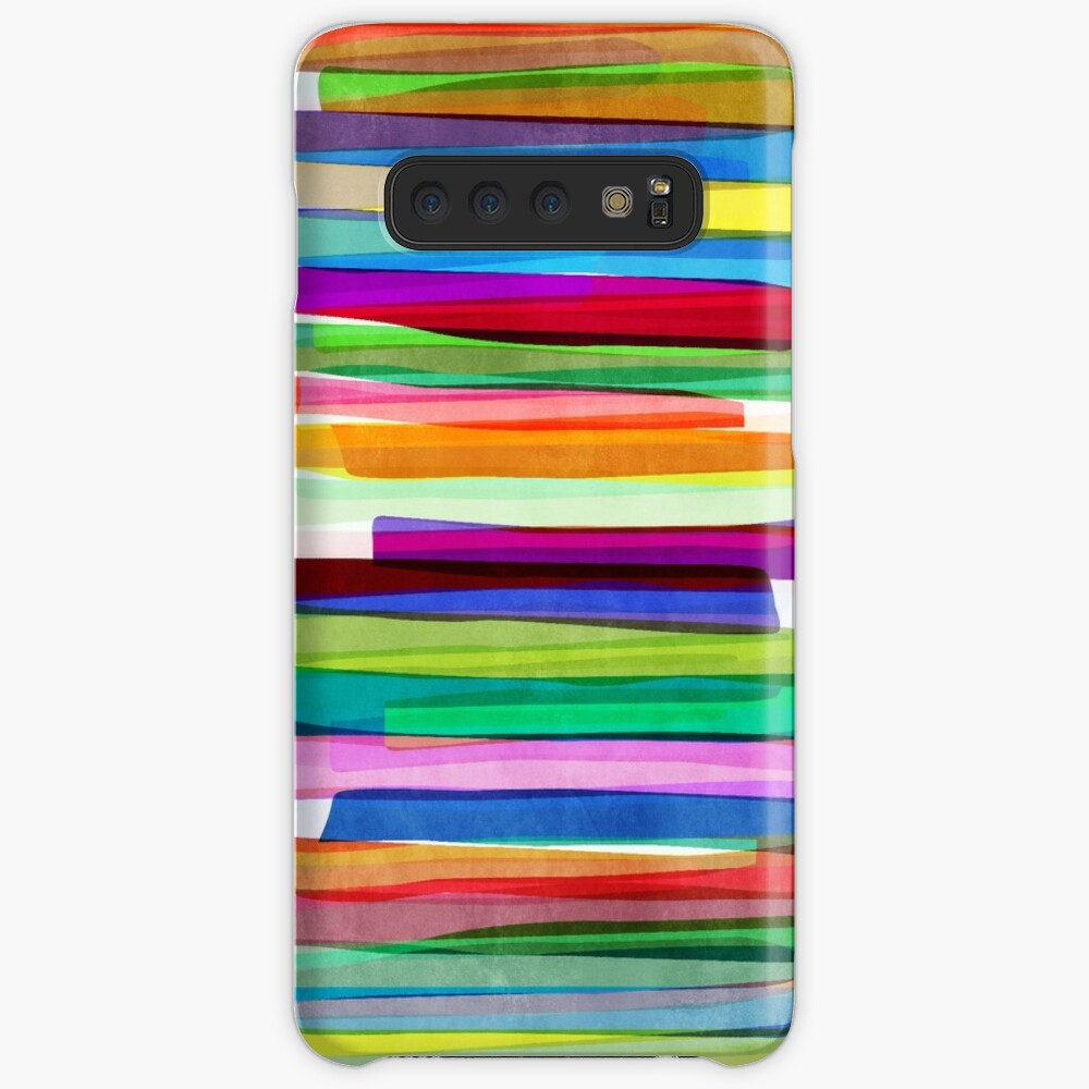 Colorful Stripes 1 Hülle & Klebefolie für Samsung Galaxy